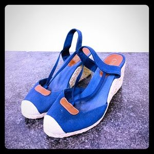 Vintage Chaps Blue Denim Wedges